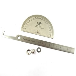 Stainless Protractor Round Head Angle Finder Craftsman Rule Ruler Machinist Tool[010265](China (Mainland))