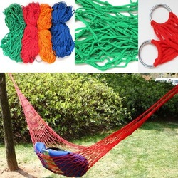 door Travel Camping Hammock Garden Portable Nylon Hang Mesh Net Sleeping Bed[010282](China (Mainland))