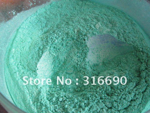 Free Shipping 100% natural green pearl pigment mica powder for make up 50g/lot(China (Mainland))