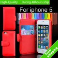 High Quality Smart PU Leather Wallet Case Cover  for Apple iPhone 5 5G 5th Free Shipping UPS DHL HKPAM CPAM JD-MD5