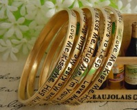 50pcs/lot  Letters moral 5 mixed color wish bracelet &008 Free Shipping