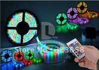 3528 RGB 5M Waterproof 300 LED Colorful RGB Flexible Led Light Strip + Remote For Xmas Party