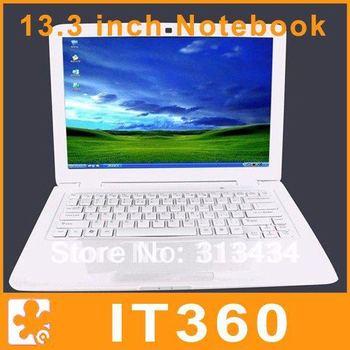 13.3 Inch Ultrathin Ultrabook Laptop  Notebook Computer Windows 7 2GB RAM 320GB HDD Intel Atom D2500 Dual Core 1.86GHz  Webcam