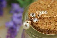 holidy женщин 18k золото Заполненные искрообразования имитируемых diamond Стад Серьги e02
