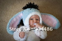 Lovely animal hat Knitted handmade  hat for baby gift