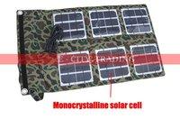 Free Shipping 2pcs 18W Foldable Solar Panel Charger Bag for Laptops&cell phone 19V/5V adjust