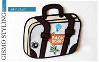 2012 woman man Comic cartoon 3D vivid Shoulder Messenger Bag HandBag carry in space cartoon bag