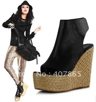 New style women's boots Fashion wedge short boots