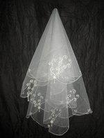 NEW White/Ivory Wedding Veils Bridal Cathedral Veil Free Shipping