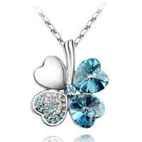 Free shipping wholesale Crystal necklace four leaf clover necklace star accessories 090 - 5 9