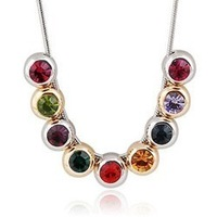 Jewelry crystal necklace birthday gift necklace female sparkling necklace accessories 207
