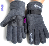 Outdoor winter gloves, men's warm and comfortable thickened flannel double gloves, welcome to place an order order!