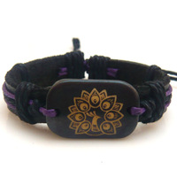 Genuine leather bracelet vintage 's eye pattern peacock bone bracelet national trend accessories bracelet