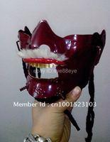 Japanese Samurai Mens Armor red Metal Mask