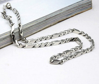 Three-dimensional personality titanium steel necklace male necklace chain birthday gift