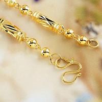 Six Angle gold-plated necklace imitation man personality imitation gold coarse chain