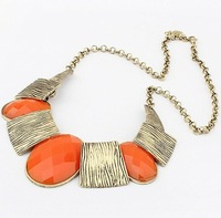 Колье-ошейник 2013 fashion jewelry/Hot sale trendy necklace, retro/vintage multilayer knotted choker necklace for woman