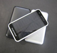 Free shipping 5pcs New 3600mAh Portable Solar Charger with LED light, Spare power for CellPhones/MP3/MP4/GPS/PSP