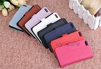 Чехол для для мобильных телефонов Black Flip Leather Case For new iphone 5 5G+Clear Screen Guard Protector+STYLUS Pen