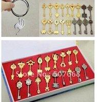 Fairy Tail Lucy 18pcs/set Key Keychain Scale & Free Tattoo Heartfilia sign of the zodiac gold Key