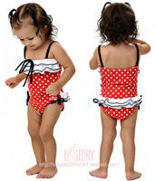 Strawberry child swimwear one piece swimwear ballet skirt female child swimwear twinset