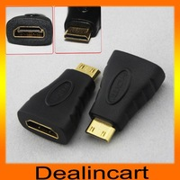 Free Shipping Mini HDMI to HDMI Adapter Converter Connector