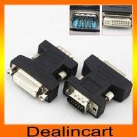 VGA to DVI adaptor 15 Pin VGA Male to DVI 24+5 Female Adapter For PC HDTV