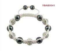 genuine white string shamballa with crystal shamballa bracelet wholesale
