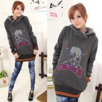 women's with a hood sweatshirt outerwear female casual autumn hoodie female sweatshirt