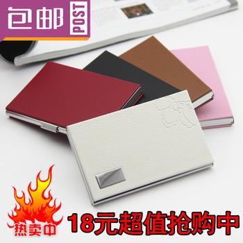 carte gao-qi stock commercial mâle boîte à cartes d'affaires mode féminine métalliques en acier inoxydable