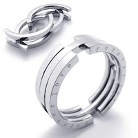 US Size 8#--13# 316L Stainless Steel Personality Flexible Movable Lover Ring for Men