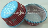 high quality food grade Eco-friendly wholesale and retail baking cupcake liners for Christmas
