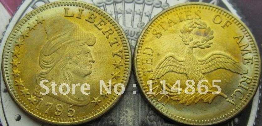1795 DRAPED BUST 10.00 EAGLE GOLD COIN COPY FREE SHIPPING(China (Mainland))
