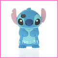 3D Stitch Movable Ear Flip Hard Back Case Cover Skin for Phone free shipping christmas gift