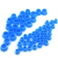 1000 New Tattoo Ink Cups Ink Caps(Blue Color,Mixed Size) for Needles(China (Mainland))