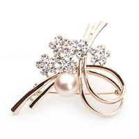 2014 Hijab Broches Broche Ts Good Quality Plated Rhinestone Fashion Female Wedding Corsage Jewelry Free Shipping(min Order >$10)