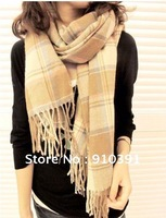 Free ship utility scarf,super long scarf,fashion neckerchief shawl,lattice pashmina,unisex muffler keep warm for women men.