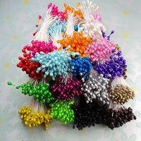 1600 Mix 16 Colors Sugarcraft Stamen Floral Wholesal 55mm Double Tips DIY Decoration