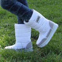 Lovers snow boots waterproof women's high-leg boots women's shoes thermal snow shoes winter boots plus size