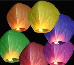 Wholesale - -New 10 PCS FIRE SKY CHINESE LANTERNS BIRTHDAY WEDDING PARTY & Outside Play(China (Mainland))