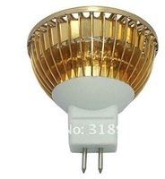 MR16 6W White/Warm white  LED Light Led Lamp Cup Bulb Spotlight Spot Light  Free Shipping Sliver or gloden Body