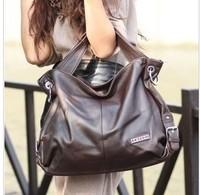 cowhide women's handbag genuine leather brief handbag one shoulder cross-body big bags wpkds
