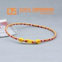 Free Shipping 50 PCS /LOT Fashion Health Sport Single Rope USC Trojans Ncaa Titanium Necklace