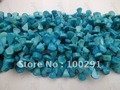Free ship Blue 16inch Long Loose Natural Coral Bead Strand