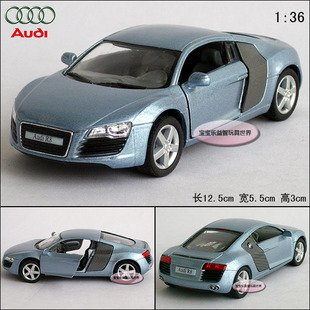 New AUDI R8 1:36 Alloy Diecast Car Model Toy Collection Blue B109d