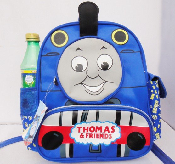 Thomas train design schoolbag New backpack for children Blue color(China (Mainland))