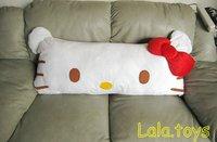 90cm Hello kitty red bowknot stuffed pillow cushion big new