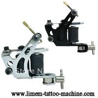 Wholesale - Handmade Damascus Tattoo Machine Gun supply rotary  Liner 10 Wraps Coils Free Shipping