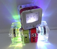 Colorful light Nizhi TT028 Music speaker with Micro SD & U-disk slot, support FM radio + screen show time, High quality EMS/DHL