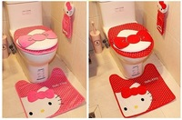 Free shipping ,Hello kitty Toilet seat cover ,Closestool mat, carpet.